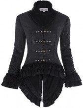 Belle Donne Gonna Steampunk Giacca Donne Diacca di Donna IT223