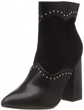 Lost Ink Jaime Mix Material Ankle Boot, Stivaletti Donna (Black 0001), 38 EU