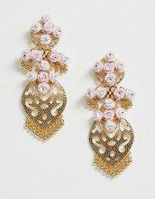 Graziosi orecchini in filigrana oro con design a fiori