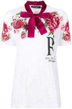 Dolce & Gabbana pussybow rose print T-shirt