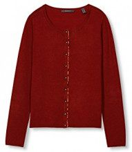 ESPRIT Collection 996eo1i902, Cardigan Donna, Rosso (Garnet Red), 44 (Taglia Produttore: XX-Large)