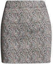 oodji Ultra Donna Gonna Mini in Cotone, Grigio, IT 48 / EU 44 / XL