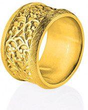 Drachenfels anello da donna Arsen und spitzenhäubchen Argento – D AS 18/AG, Placcato oro, 54 (17.2), colore: gold, cod. D AS 18/AGG-54