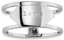 Cai Women–Anello da donna Statement Plates Love in argento 925rodiato–c7100r/90/00, argento, 52 (16.6), cod. C7100R/90/00/52