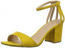 New Look Wide Foot Tequila, Scarpe col Tacco Punta Aperta Donna, Giallo (Dark Yellow 87), 42 EU