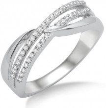 Donna-anello 750 Miore con brillanti 0, 20ct MF8003RM, Oro bianco, 14, cod. MF8003RO
