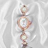 Time100 dicono le donne s Fashion semplice-Orologio retrò rotondo a conchiglia, colore: bianco, lega, orologi da polso da donna, al quarzo, #W40124L.02A