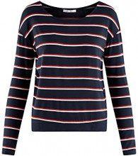 oodji Ultra Donna T-Shirt in Viscosa con Maniche Lunghe, Blu, IT 46 / EU 42 / L