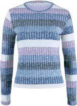 Pullover a righe in maglia a coste