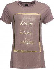 T-shirt con stampa metallizzata