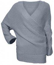AIYUE® Maglia Donna Scollato-V Croce Manica Lunga Casuale Pullover Allentato Maglione Maglieria Top Sweatshirt Elegante Sexy