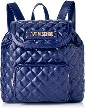 Love Moschino Quilted Nappa Pu, Borsa a Zainetto Donna, (Blu), 15x10x15 cm (W x H x L)