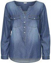 Jdy Jdywyre L/s Placket Shirt Wvn Noos, Camicia Donna, Blu Medium Blue Denim, 44 (Taglia Produttore: 38)
