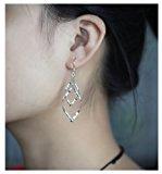 Orecchini torsione, Isenretail S925 argento nappe drago orecchini donne per partito club presente