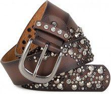 styleBREAKER Cintura con borchie e strass in design a 2 toni, accorciabile, donna 03010057, colore:100cm, colore:Marrone scuro