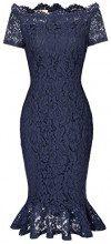 GRACE KARIN Donne Vestito dalla Matita Slim Festa Bodycon Eleganti in Pizzo IT470-3 XL