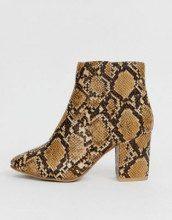 Stivali effetto serpente con tacco largo