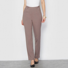 Pantaloni con cerniera laterale, dal comfort stretch
