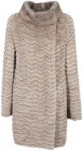 Pelliccia reversibile con lato in lana e cachemere UNI