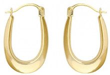 Bijoux pour tous - Orecchini ad anello, Oro giallo 9 carati (375), Donna