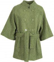 Cappotto doppiopetto in lana cotta con cinturino VERDE33