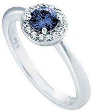 Diamonfire–Anello Royal Colours Collection anelli in argento 925rodiato con zirconi taglio brillante blu–61/1680/1/089, argento, 53 (16.9), cod. 61/1680/1/089/917