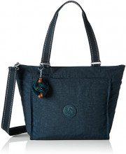 Kipling New Shopper S - Borse Tote Donna, Grün (Deep Emerald C), 42x27x0.1 cm (B x H T)