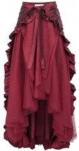 Belle Poque Donne Abiti Medievali Regina Halloween Autunno Gonna Cosplay Costume Adulto L Vino Rosso