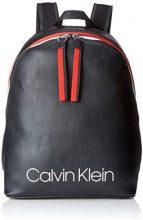Calvin Klein Jeans Collegic Backpack - Zaini Donna, Nero (Black), 16x19x28 cm (B x H T)