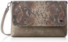 Tom Tailor Denim Mila Vip - Pochette da giorno Donna, Braun, 3x18x28 cm (L x H D)