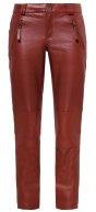 ADA - Pantaloni di pelle - burned henna