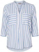 Vero Moda Vmerika 3/4 Shirt E10 Noos, Camicia Donna, Stripes:Opposite Stripe Snow/Black, 36 (Taglia Produttore: Small)