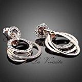 La Vivacita® Design di lusso Eternity a spirale, placcato oro rosa con cristalli Swarovski regalo di alta qualità per le donne