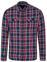 Mountain Warehouse Trace Camicia a Manica Lunga in Flanella Uomo - 100% Cotone, Leggera, Traspirante - Perfetta per Viaggi e Passeggiate Grigio S