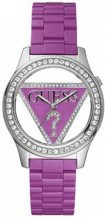 Guess W95105L4 - Orologio da polso da donna, cinturino in poliuretano colore violetto