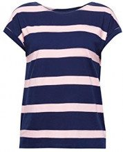 edc by Esprit 078cc1k007, T-Shirt Donna, Blu (Navy 400), Small