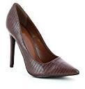 Scarpe stiletto punta design pitonato, colore: rosso