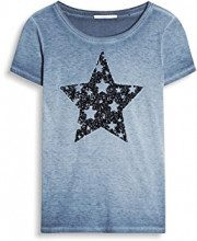 edc by Esprit 037cc1k044, T-Shirt Donna, Blu (Dark Blue), 38 (Taglia Produttore: Medium)