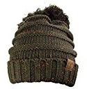 NYfashion101® Unisex Multicolor caldo a maglia berretto Pom Pom Beanie Cap