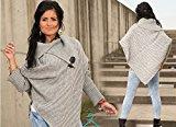 Womens Ladies Caldo A Maglia Poncho Maglione Giacca Mantella Wrap scialle