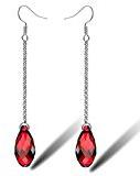 Cristallo orecchini di goccia elementi di Swarovski di cristallo a goccia con la catena lunga di goccia nappa orecchini gancio per le donne