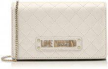 Love Moschino Quilted Nappa Pu, Pochette da Giorno Donna, (Avorio), 15x10x15 cm (W x H x L)