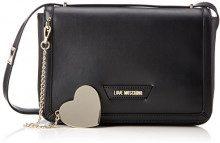 Love Moschino Borsa Calf Pu Nero - Borse a spalla Donna, (Black), 6x13x28 cm (B x H T)