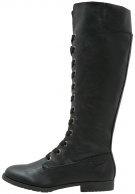 TARA - Stivali con i lacci - black