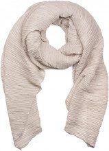 styleBREAKER pashmina tessuto increspato, a tinta unita, effetto stropicciato, foulard, da donna 01016107, colore:Beige