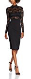 Jane Norman Lace Top Solid Skirt, Vestito Donna
