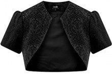 oodji Collection Donna Bolero in Jacquard, Nero, IT 40 / EU 36 / XS