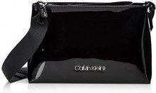 Calvin Klein Snap Clutch/Crossbody P - Borse a tracolla Donna, Nero (Black), 9.5x26x17 cm (B x H T)