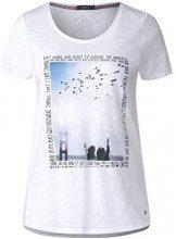Cecil 312264, T-Shirt Donna, Bianco (White 30000), XXL
