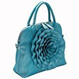 FASH Limited Grande Rose Snake Stampa strutturato maniglia superiore borsa Crossbody